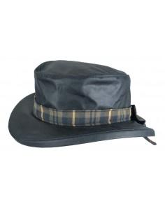Chapeau de pluie huilé Dame THELMA Oxford Blue