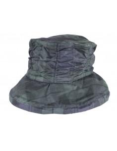 Chapeau de pluie huilé Dame TARTAN Oxford Blue