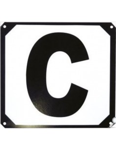 Set de 12 lettres manège support métallique Ekkia